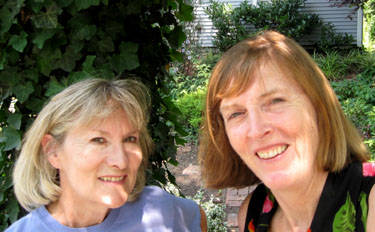 Susan Harris and Ginny Stibolt.  Photo by Stibolt