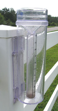 Ginny's rain gauge.  Photo by Stibolt
